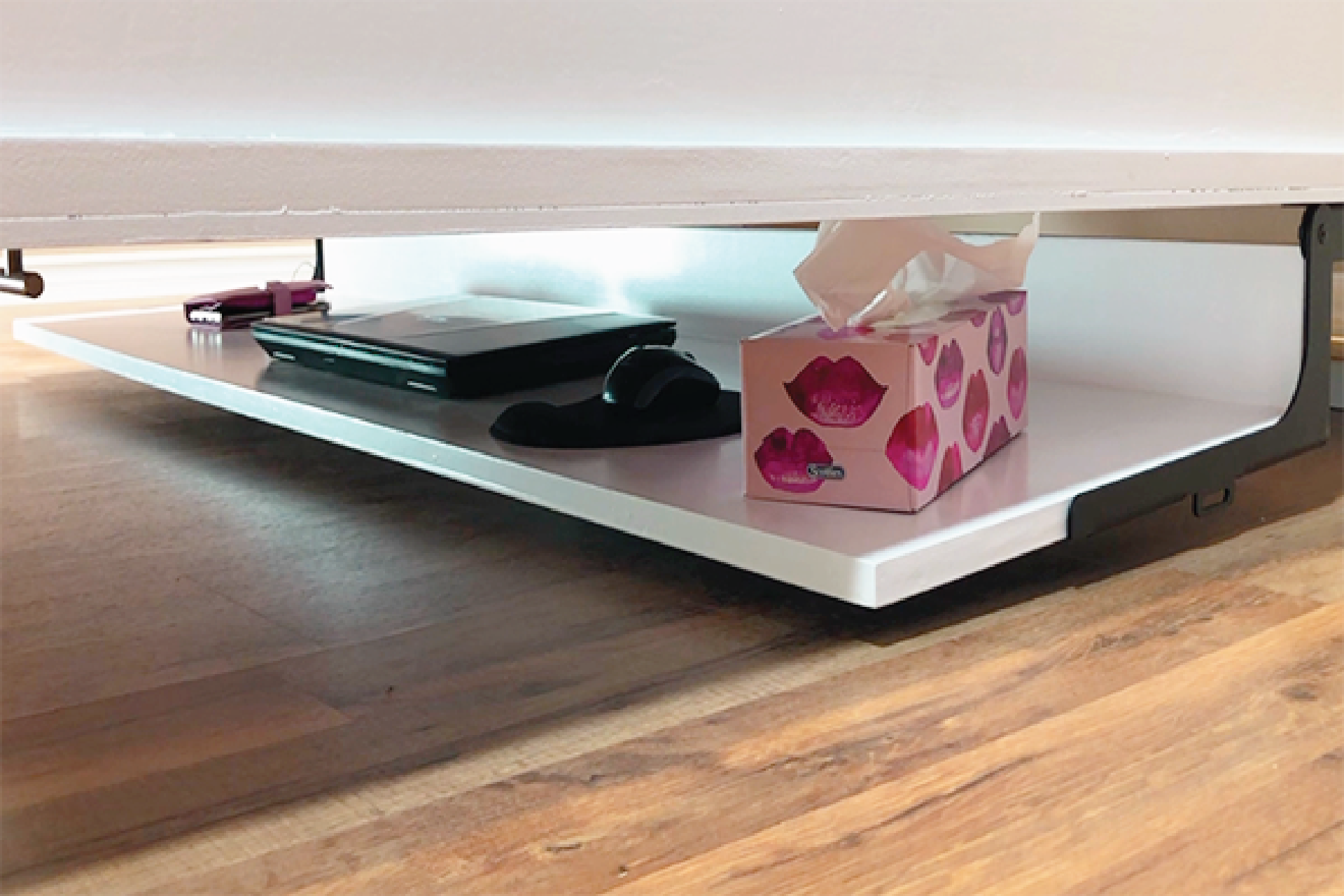 Make the most of your space with an attached desk